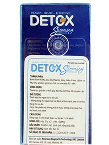 viên giảm cân detox slimming usa