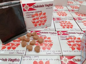 kẹo socola giảm cân đan mạch vỏ trắng