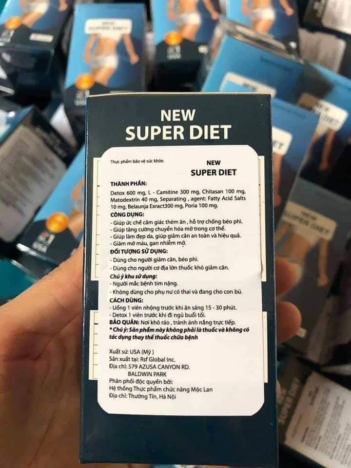 giảm cân new super diet của mỹ